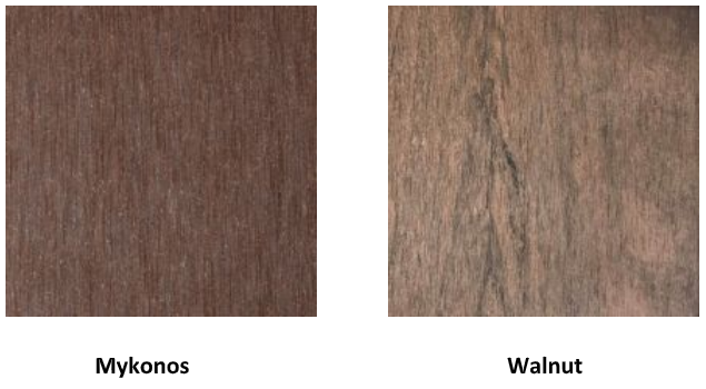 PermaTimber Mykonos and Walnut