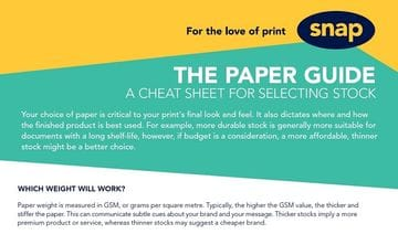 Paper stock: Your definitive cheat sheet