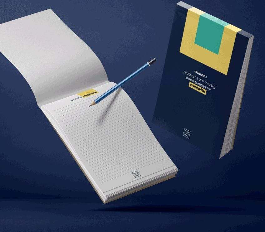 Note pads can be personalised