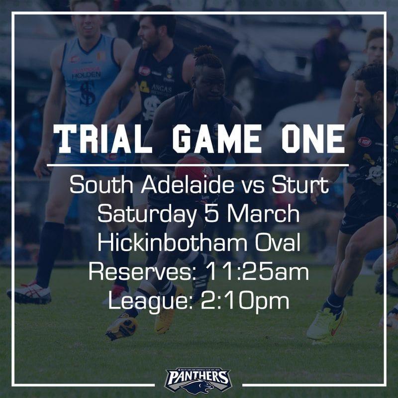 Trial Game One: South vs Sturt - Teams