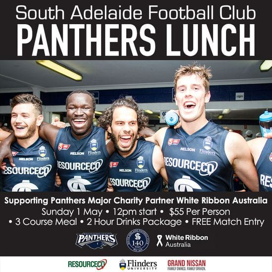 Panthers White Ribbon Lunch