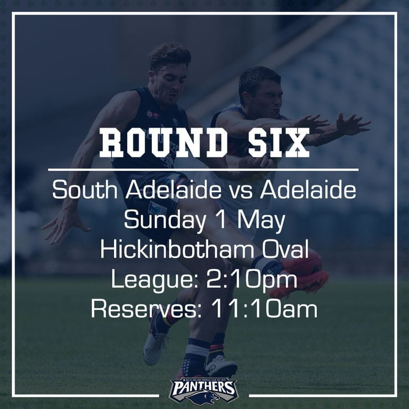 Round Six: South vs Adelaide - Teams