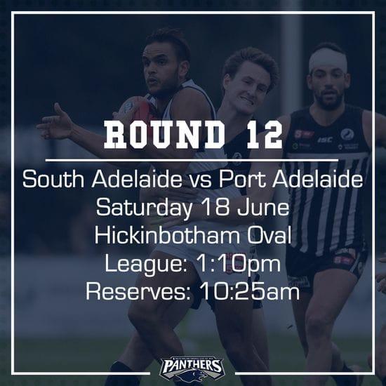 Round 12: South vs Port - Teams