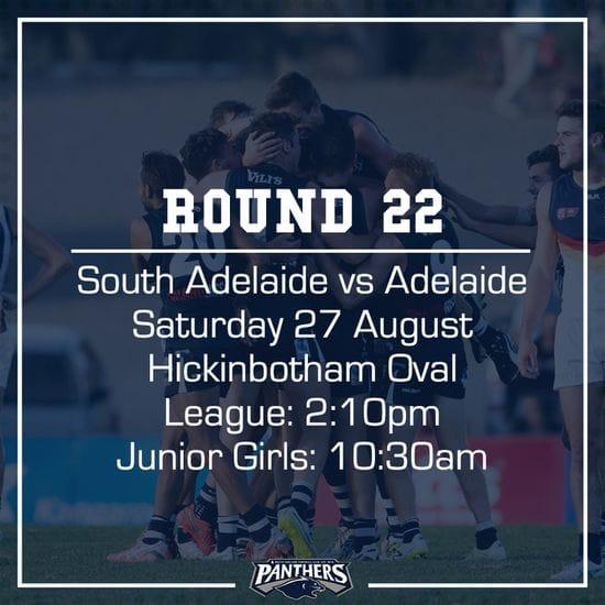 Round 22: South vs Adelaide - Teams