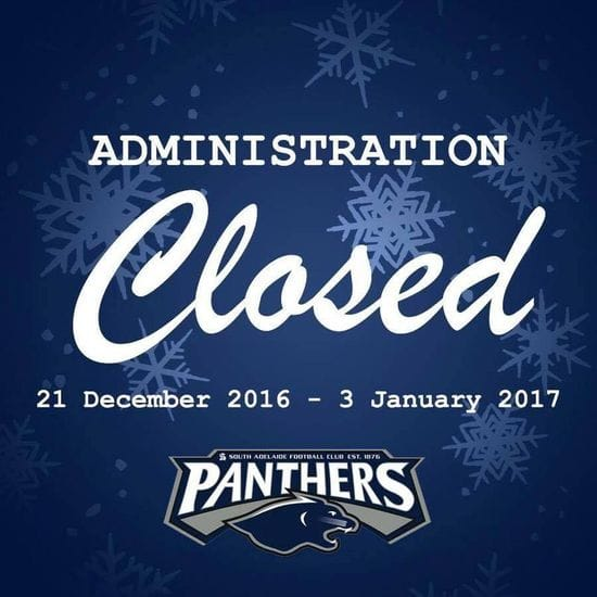 Administration Christmas Closure Dates