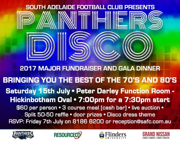 Join us at the Panthers Disco - Gala Auction