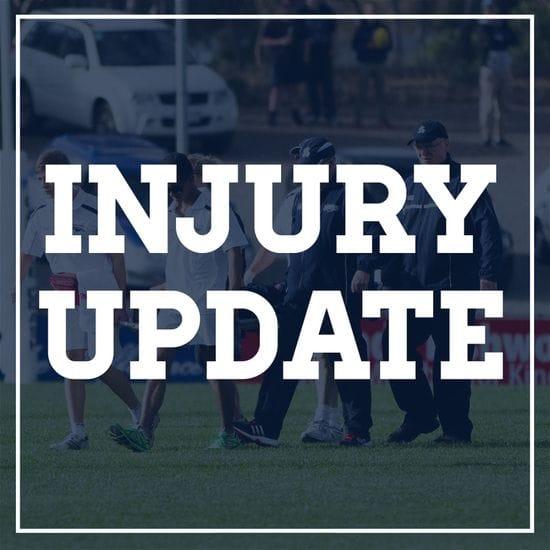 Injury Update - Round 15
