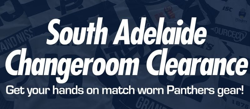 Panthers Changeroom Clearance - Score Match Worn Gear!