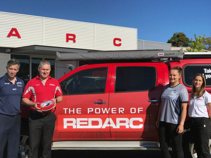 REDARC Power Panthers Women as Premier Partner