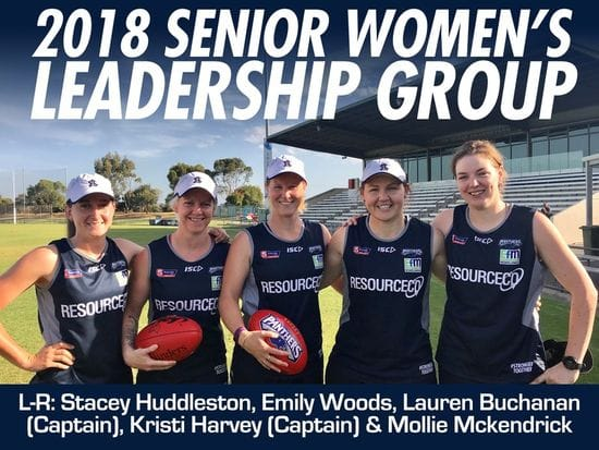 Harvey and Buchanan to Captain South Adelaide Women