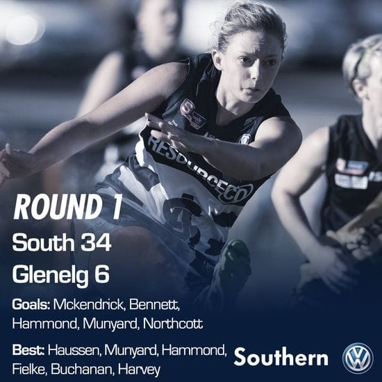 SAFCW Match Report - Round 1 - South Adelaide vs Glenelg
