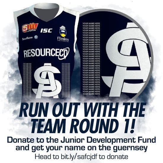 Run Out With the Team Round 1 - Get Your Name on the Guernsey!