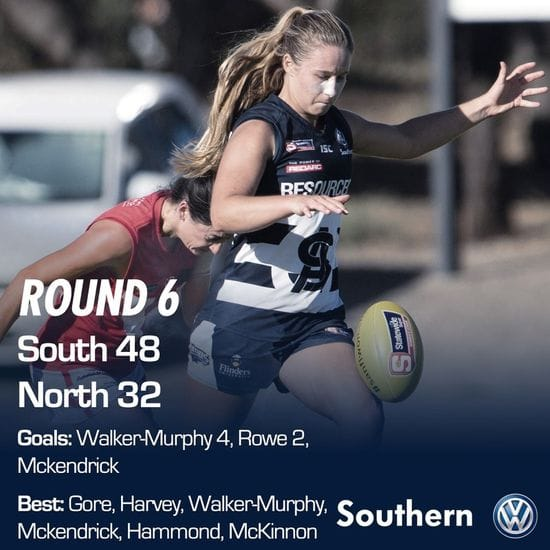 SAFCW Match Report - Round 6 - South Adelaide vs North Adelaide