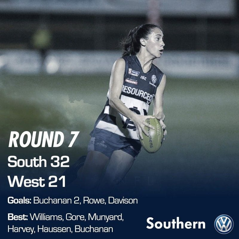 SAFCW Match Report - Round 7 - South Adelaide vs West Adelaide
