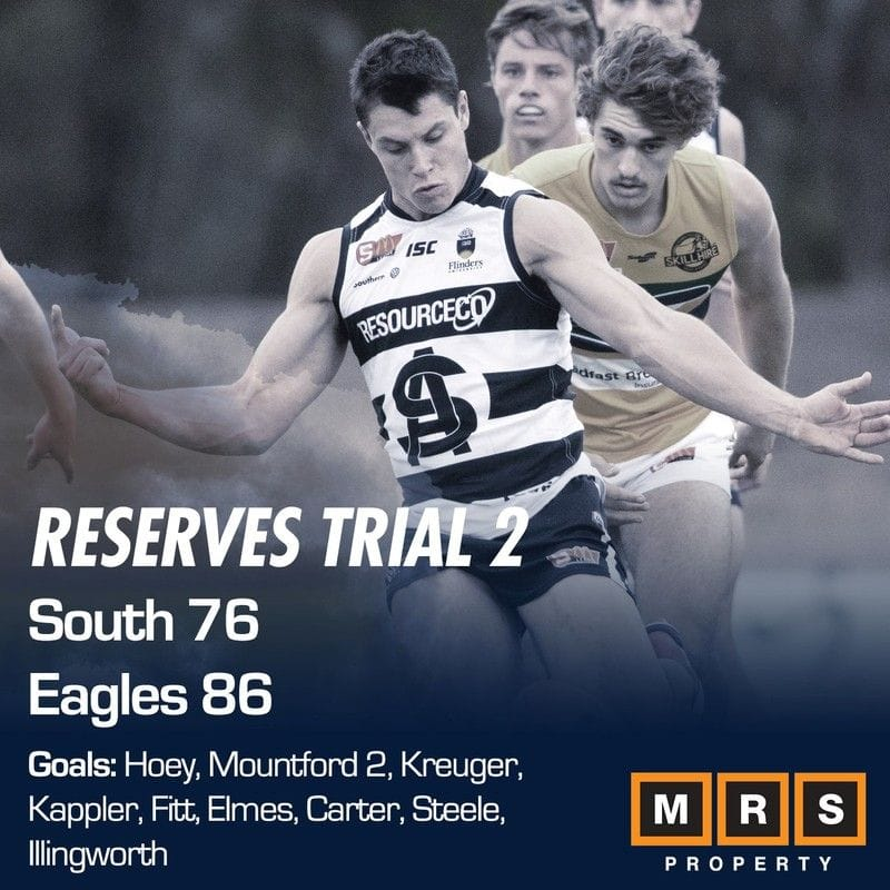 Reserves Match Report - Trial 2 - South Adelaide vs Woodville-West Torrens