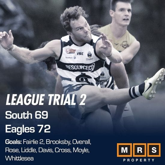 League Match Report - Trial 2 - South Adelaide vs Woodville-West Torrens