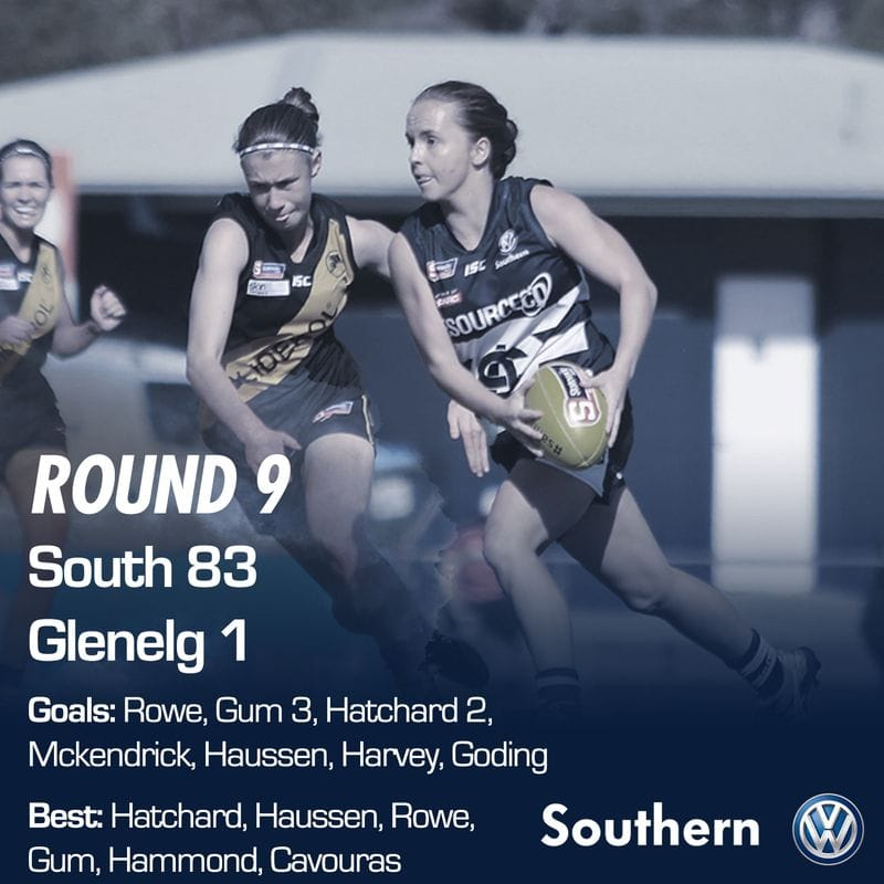 SAFCW Match Report: Round 9 - South Adelaide vs Glenelg
