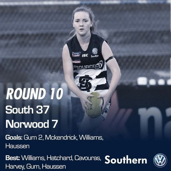SAFCW Match Report: Round 10 - South Adelaide vs Norwood