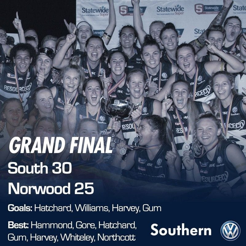SAFCW Match Report: Grand Final - South Adelaide vs Norwood