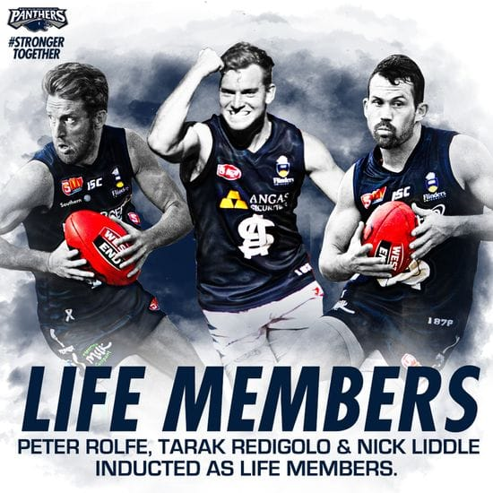 Peter Rolfe, Tarak Redigolo and Nick Liddle inducted as a Life Members