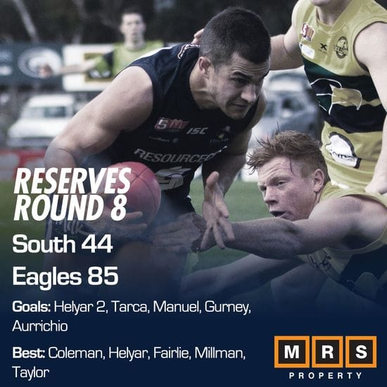 Reserves Match Report - Round 8 - South Adelaide vs Eagles