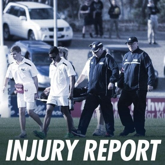 Injury Report - Round 10