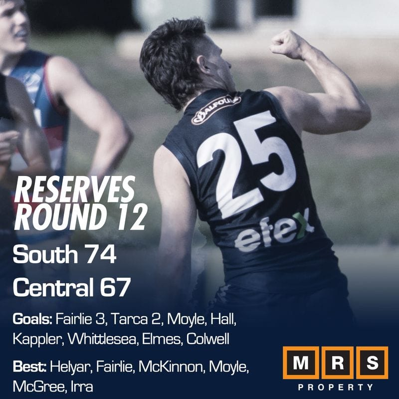 Reserves Match Report - Round 12 - South Adelaide vs Central District
