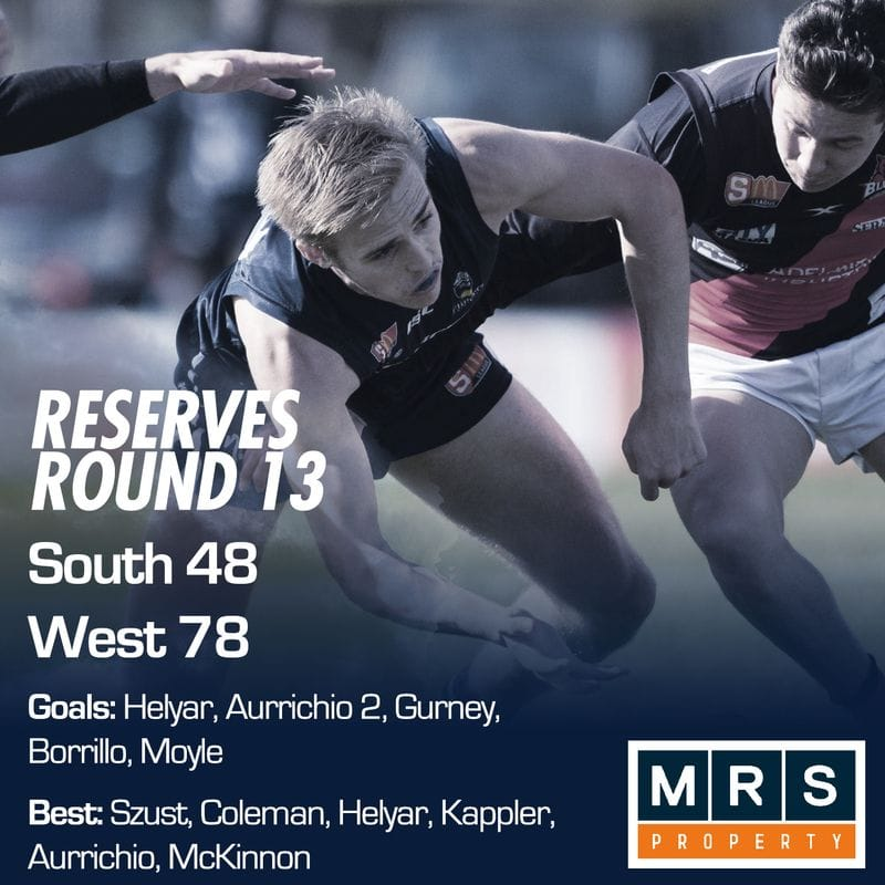 Reserves Match Report - Round 13 - South Adelaide vs West Adelaide