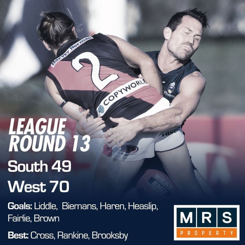 League Match Report - Round 13 - South Adelaide vs West Adelaide