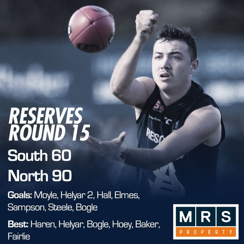 Reserves Match Report - Round 15 - South Adelaide vs North Adelaide