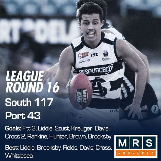 League Match Report - Round 16 - South Adelaide vs Port Adelaide