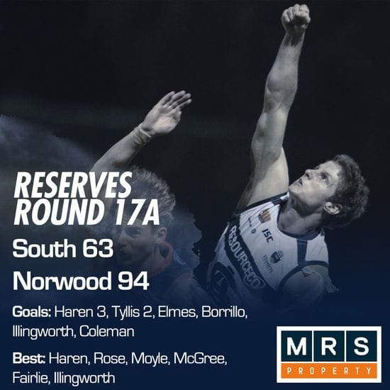 Reserves Match Report - Round 17A - South Adelaide vs Norwood