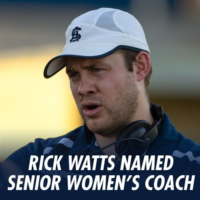 Rick Watts Named South Adelaide Senior Women's Coach
