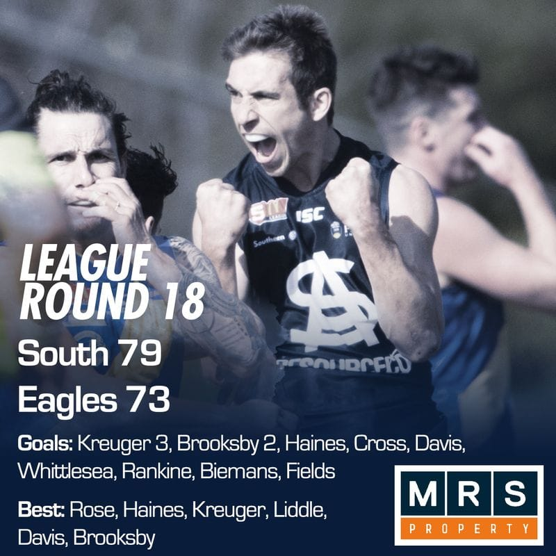 League Match Report - Round 18 - South Adelaide vs Woodville-West Torrens