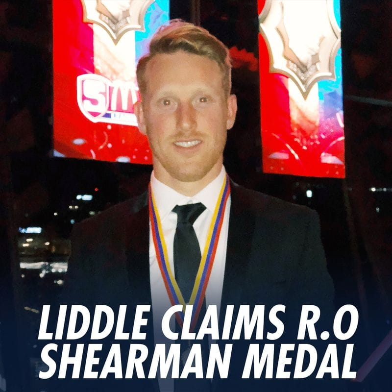 Nick Liddle claims 2018 R.O Shearman Medal
