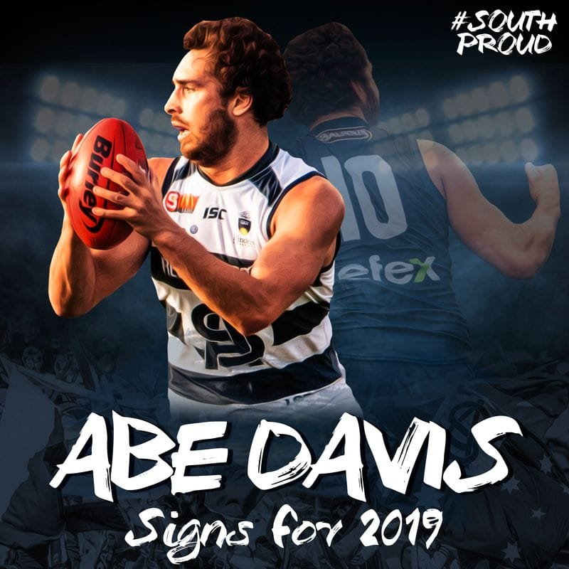 Abe Davis signs for season 2019