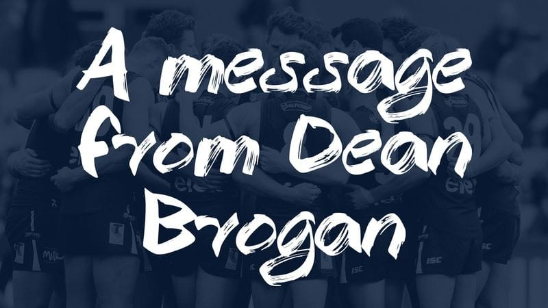 A message from Dean Brogan
