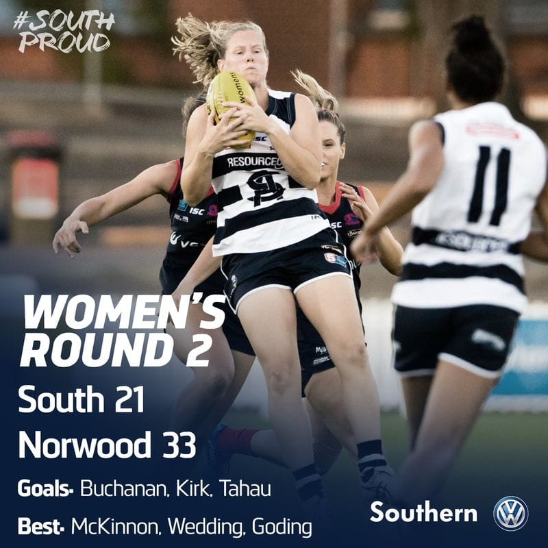 SAFCW Match Report: Round 2 - Norwood vs South Adelaide