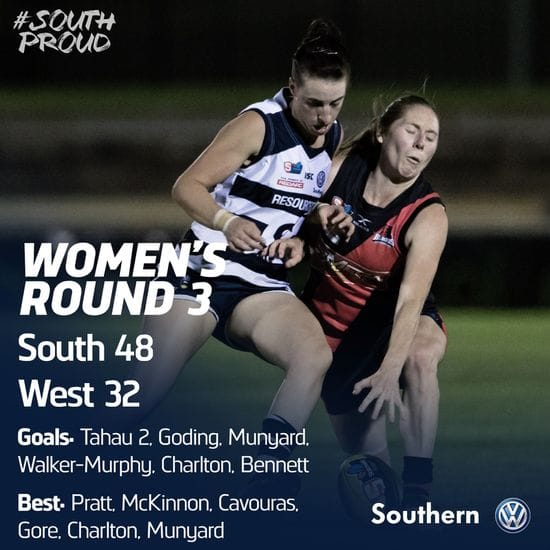 SAFCW Match Report: Round 3 - West Adelaide vs South Adelaide