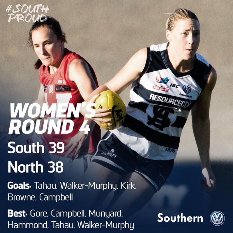 SAFCW Match Report: Round 4 - South Adelaide vs North Adelaide