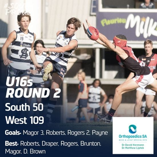 Junior Match Report: U16s fall to West in Round 2