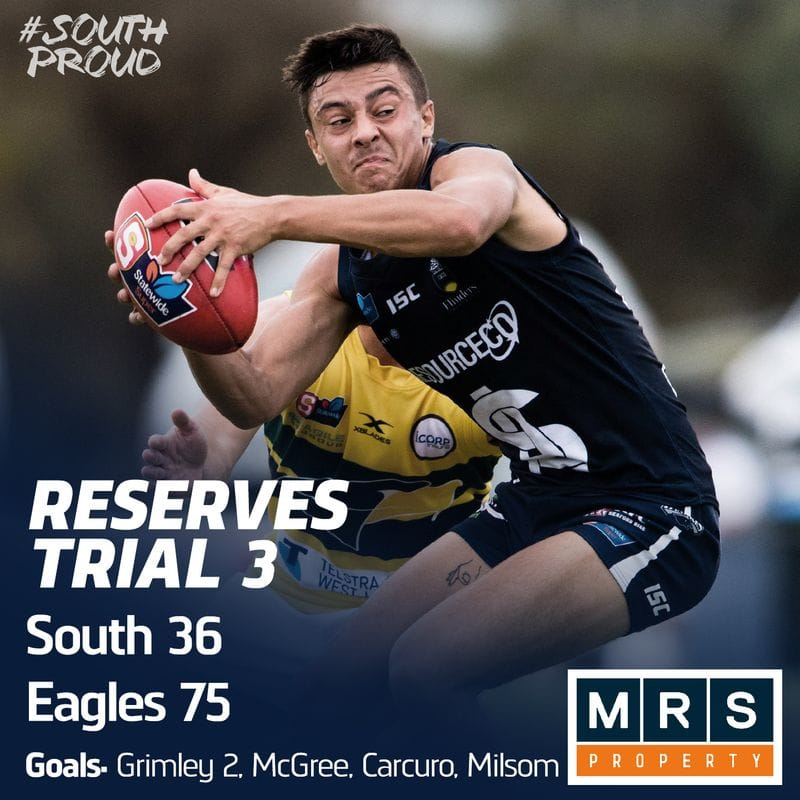Reserves Match Report: Eagles swoop young Panthers