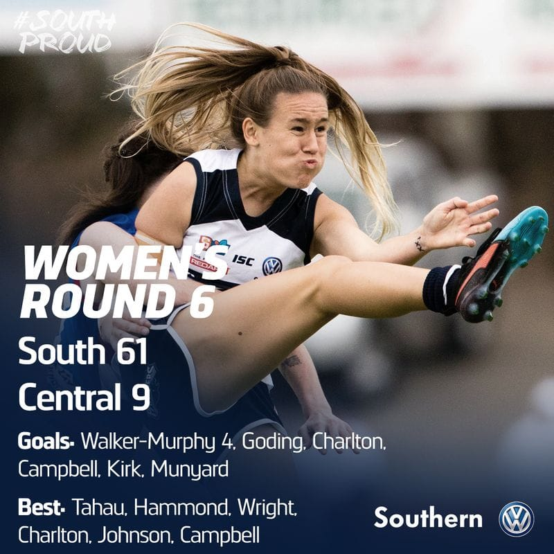 Women's Match Report: Fast finish propels South past Central District