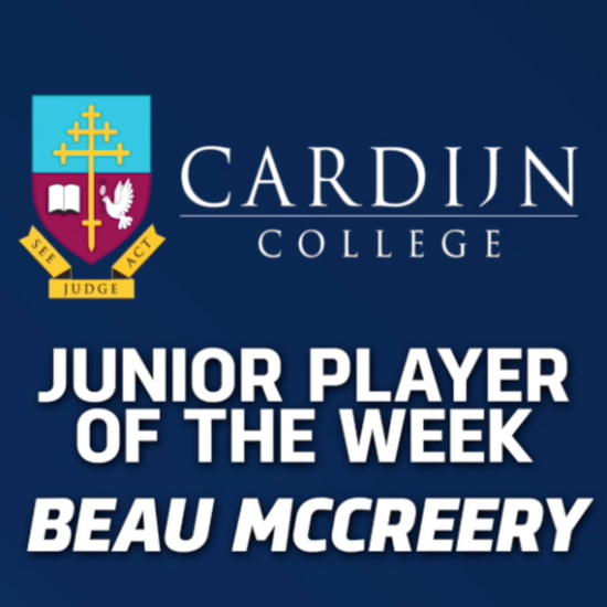 PanthersTV: Cardijn College Junior Player of the Week - Beau McCreery