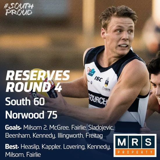 Reserves Match Report: Panthers can't topple the Redlegs at the Parade