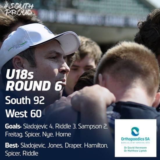 Junior Match Report: U18s enjoy win over West Adelaide