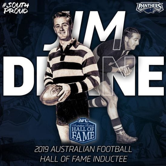 Jim Deane Honoured by the Australian Football Hall of Fame