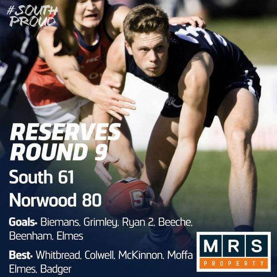 Reserves Match Report: South vs Norwood
