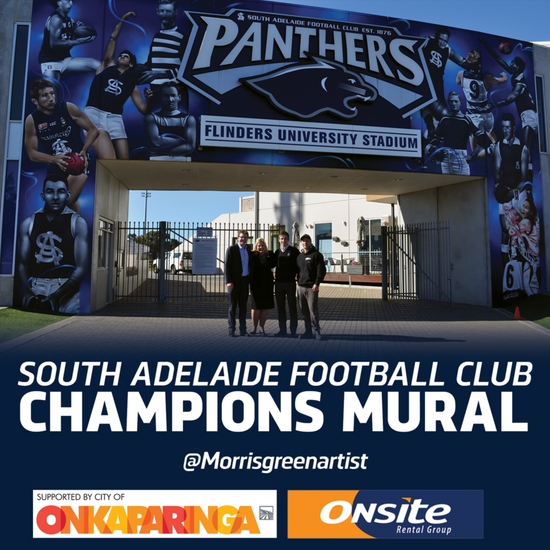 South Adelaide officially unveil mural celebrating its champions