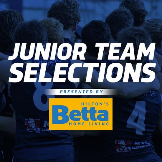 Betta Teams: Juniors - U18 Round 16